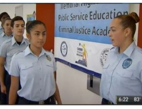 Featured on NBC6 Miami-Dade High School Preparing Students for Law Enforcement Careers