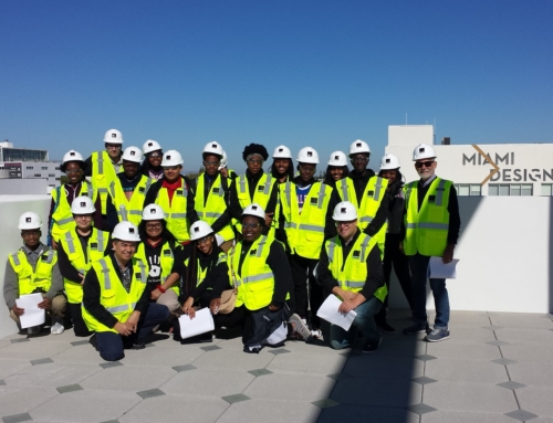 ACAD Students Tour Work-Site in Miami Design District