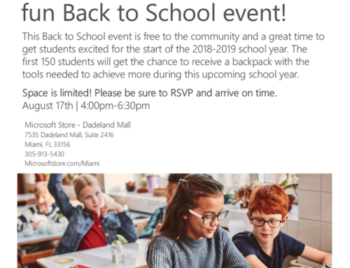 Microsoft Announces Back to School Event!